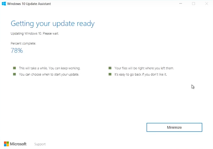 Windows 10 Getting your update ready