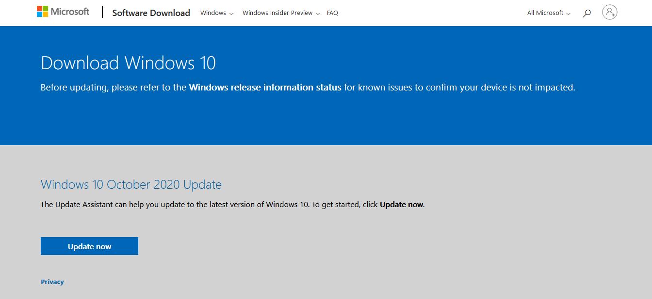 Windows 10 Update From Microsoft