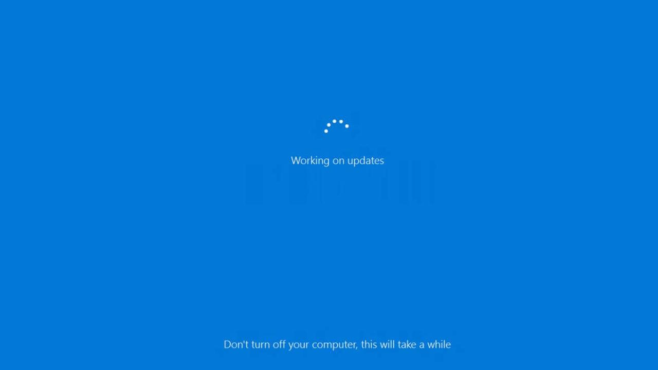 Windows 10 Updates During Restart