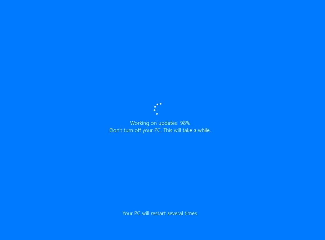 Windows 10 Working on Updates
