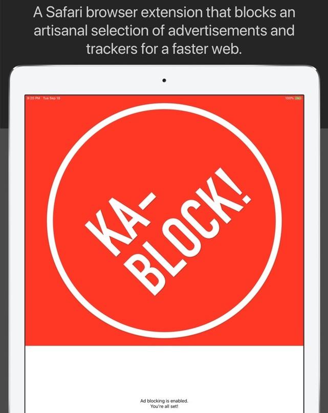 Ka-Block! iPhone Ad-block
