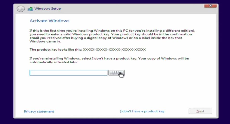 Activate Windows 10 Setup