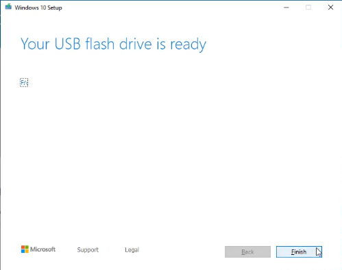 Your USB flash drive is ready
