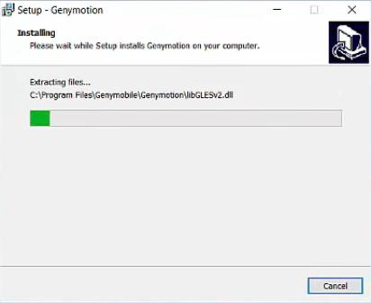 Genymotion setup