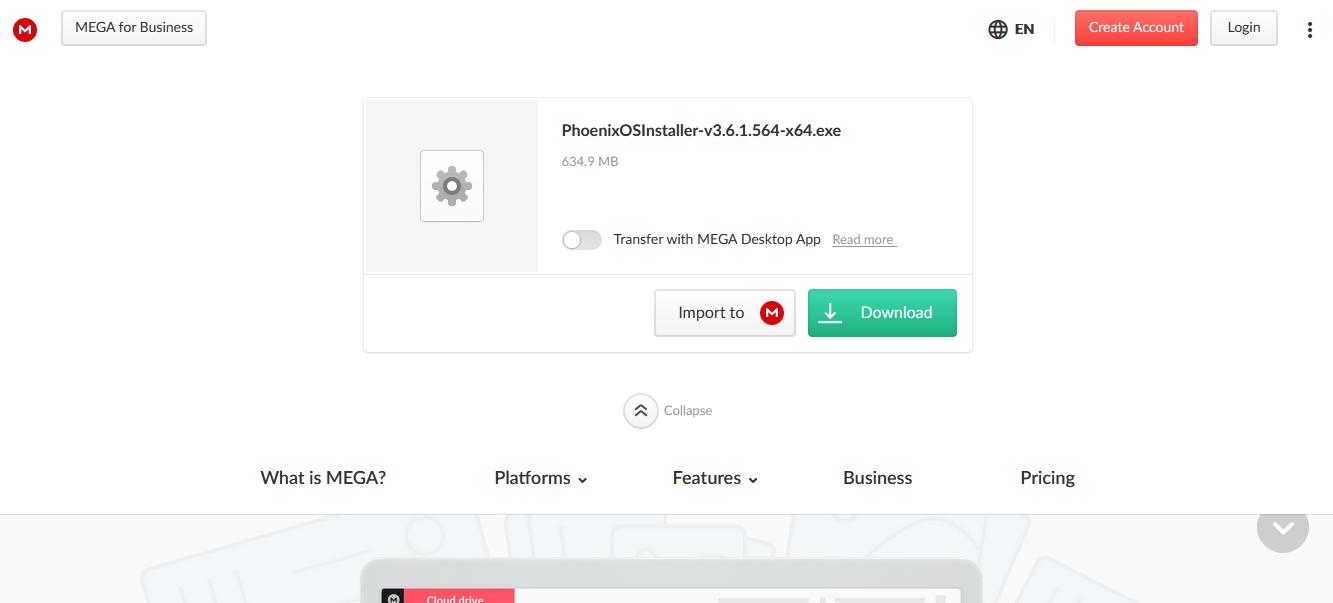 Phoenix OS MEGA installer