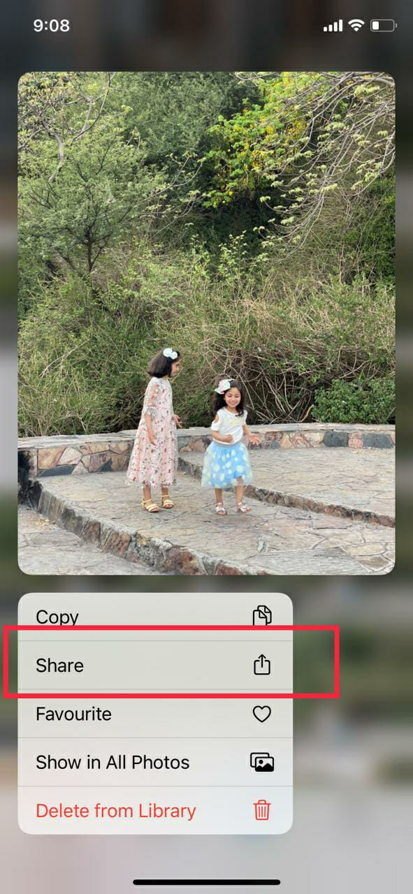 compress photos on your iPhone using Email app