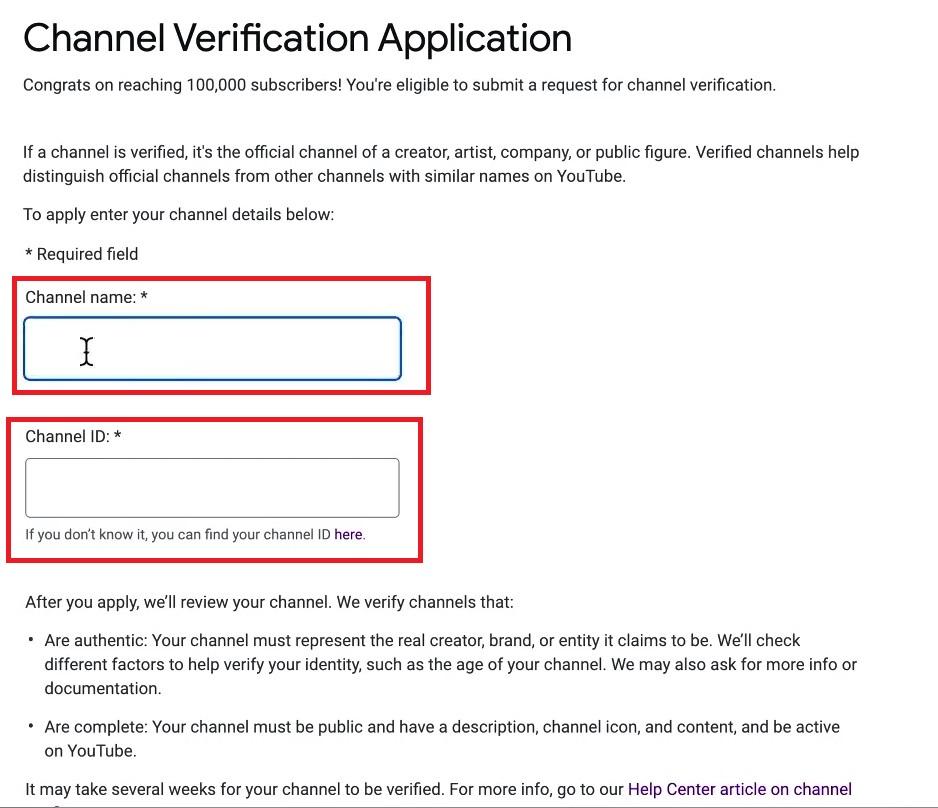 YouTube Verification Badges Application