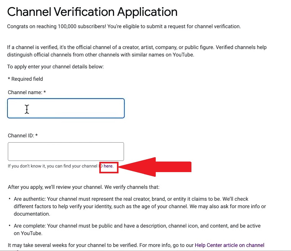 YouTube Verification Badges Channel ID