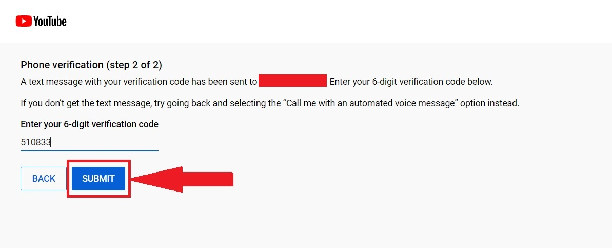 Channel Verification Submit code