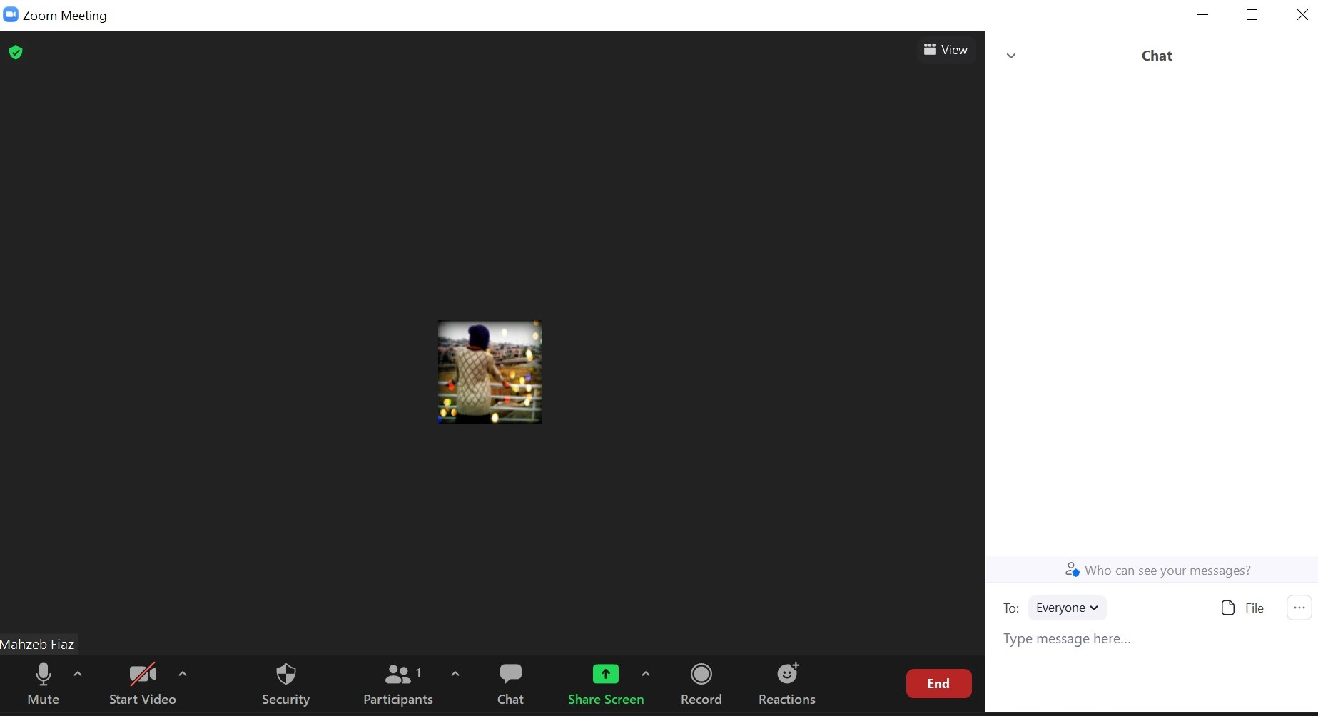 Zoom Chat Window