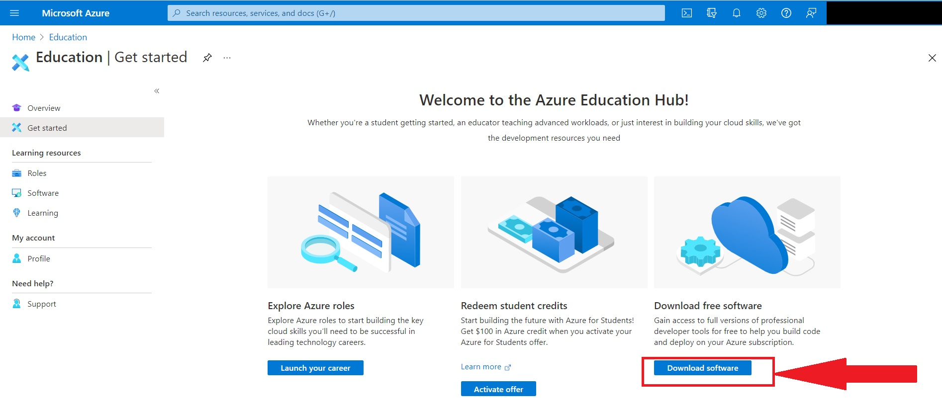 Azure Education Hub