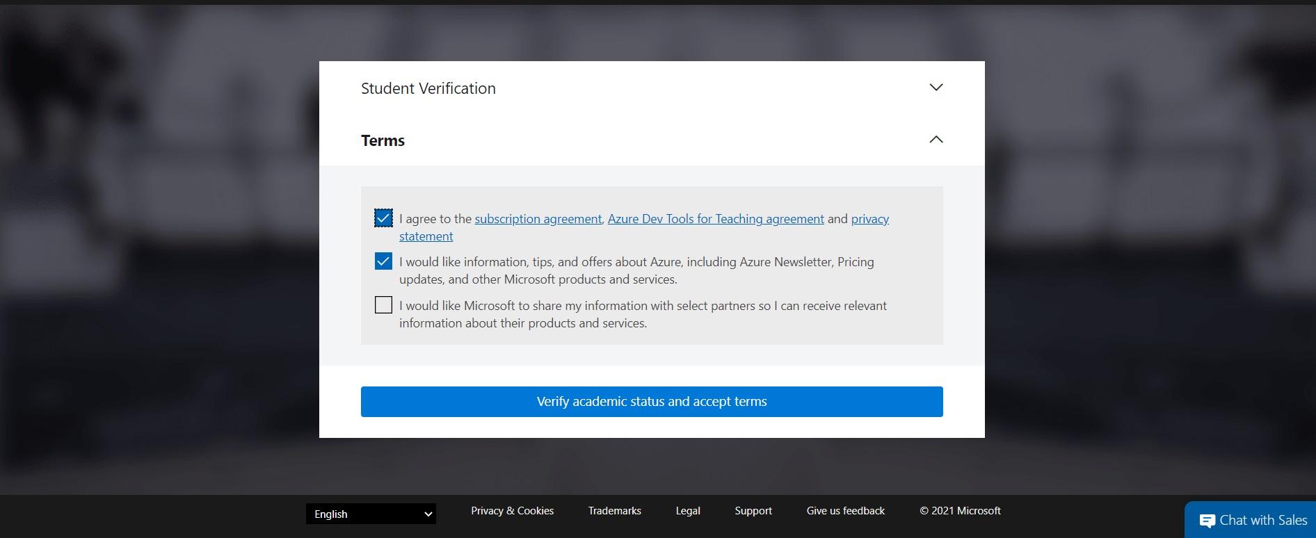 Azure Verify Academic Status