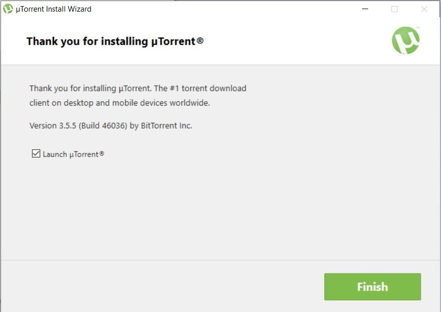 uTorrent installed