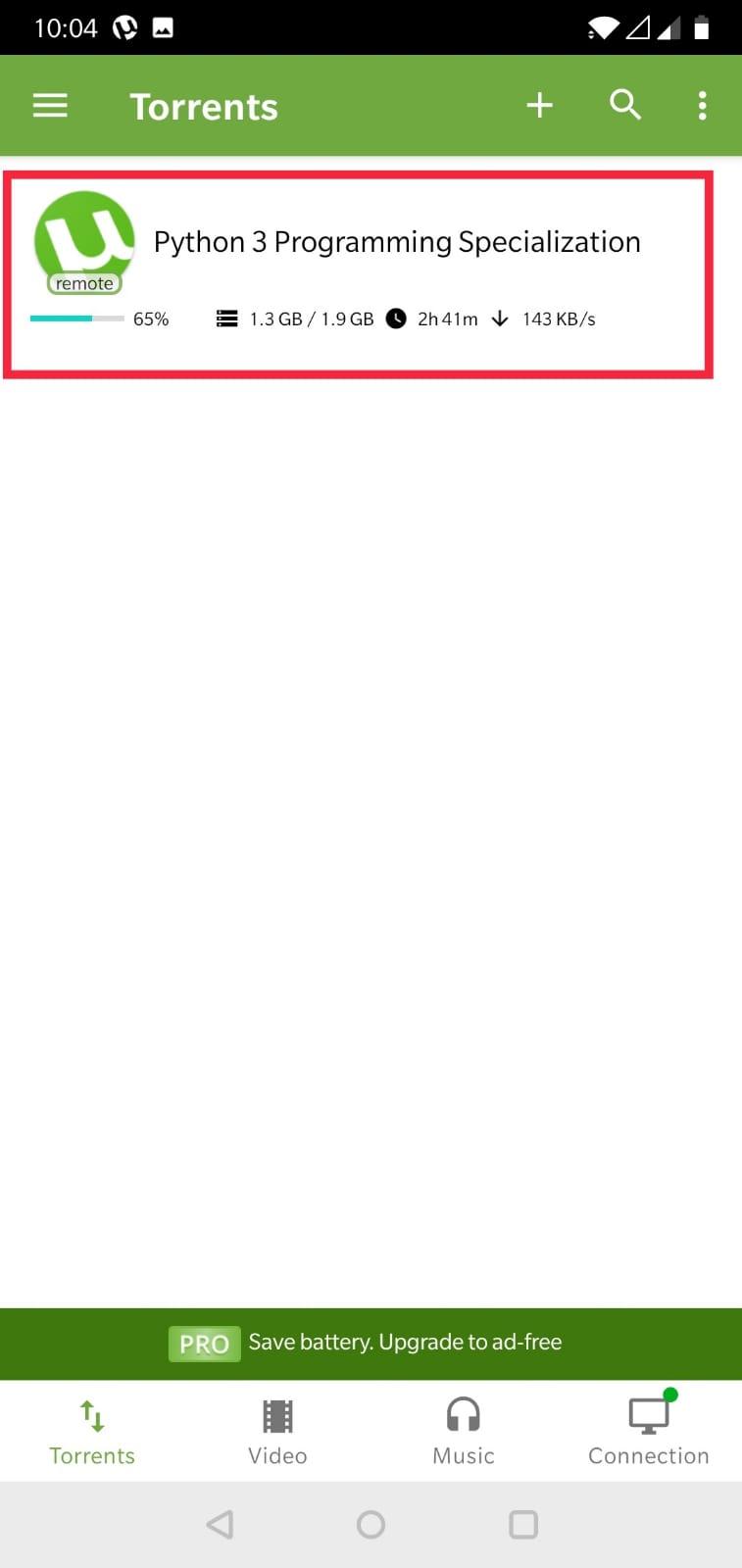 uTorrent Mobile Remote Downloads