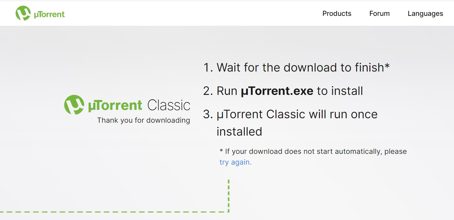 uTorrent Wait for Download